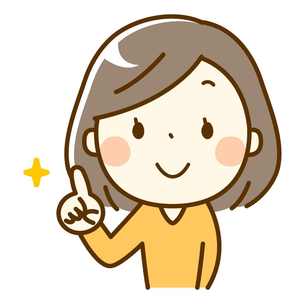 指差しをする女性のイラスト